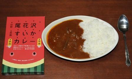 尾花沢すいかカレー 箱とカレーIMG_9944