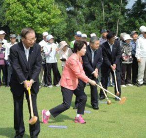 グラウンドゴルフ大会開会式②