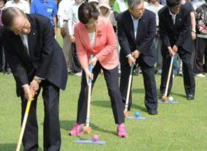 グラウンドゴルフ大会開会式①