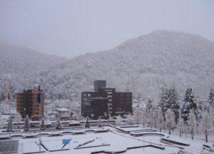 千歳山の雪景色